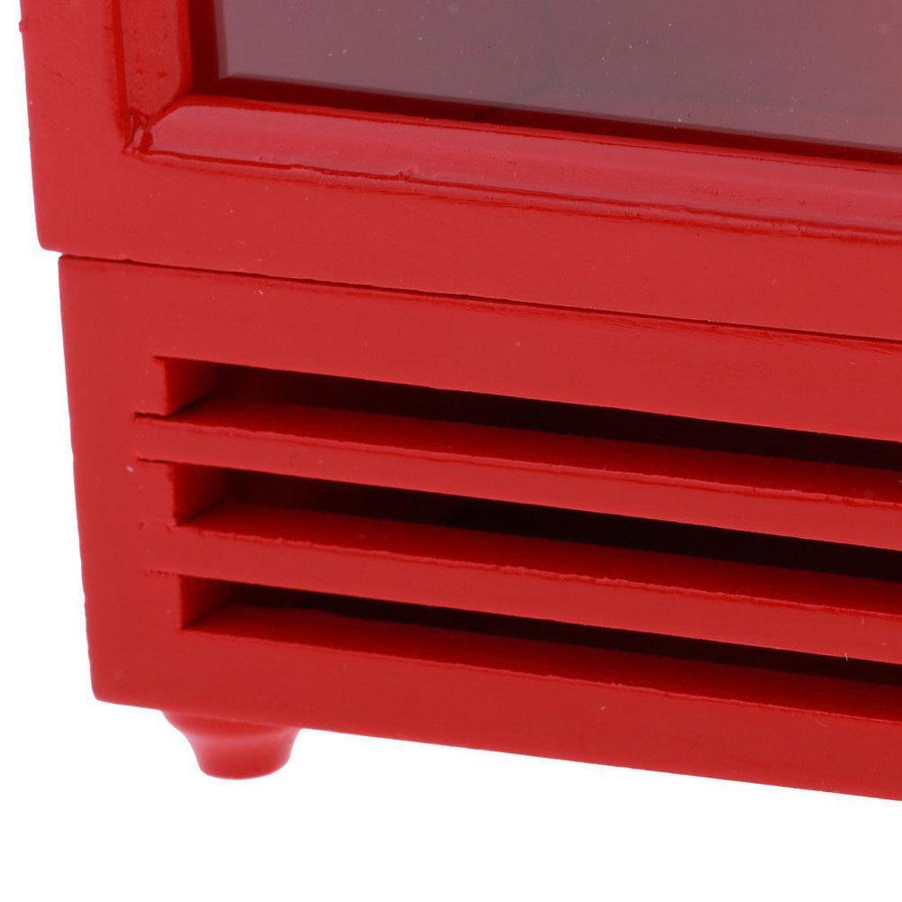 Cucina Frigorifero in legno Mobili Bambole Casa Mini Decor Accessori scala 1/12 Bianco Rosso Blu WWP4171