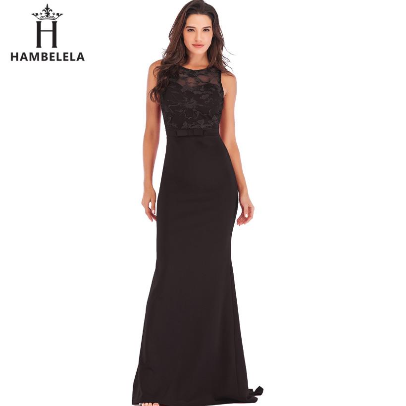 HAMBELELA Long Maxi Backless 2019 Women Dress Summer Evening Party Dresses Sexy O-Neck Elegant Floral Lace Dress Vestidos Longo (11)