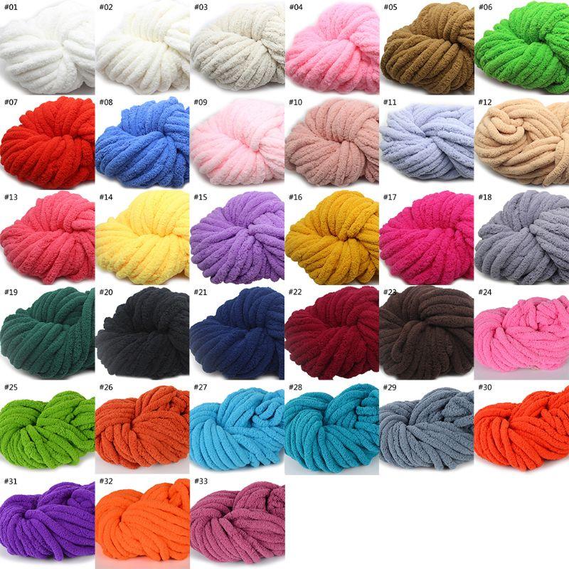 4 Bolas de Algodón Suave Colorido Niños x50g Nuevo Mano hilado teñido de lana de bufanda de punto 06