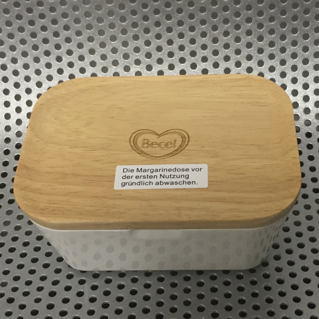 JX-LCLYL Butter Box Melamine Dish With Wood Lid Holder Serving Storage Container