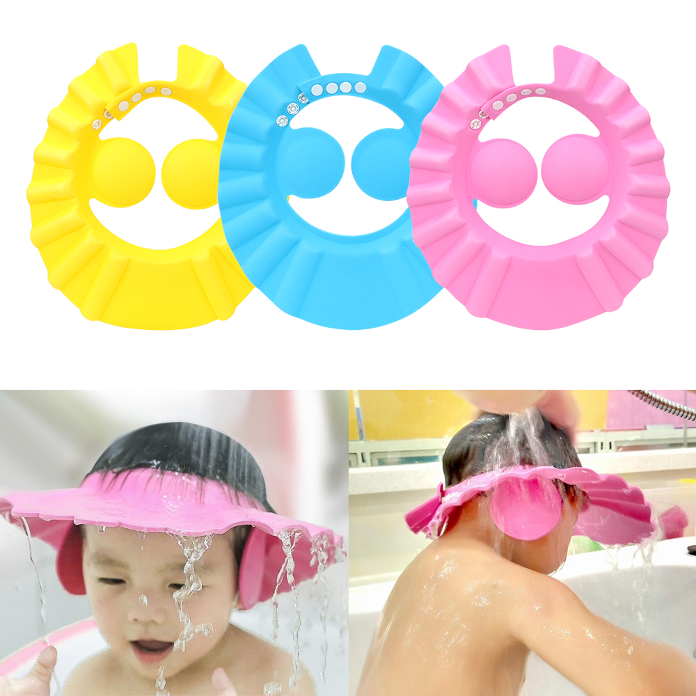Bathroom Soft Shower Wash Hair Cover Head Cap Hat for Child Toddler Kids Bath FJ