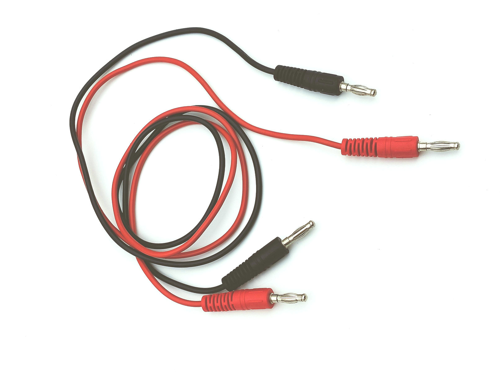 1pc Stackable Copper Banana to Banana Plug Test Leads 15A Safe Cable Set