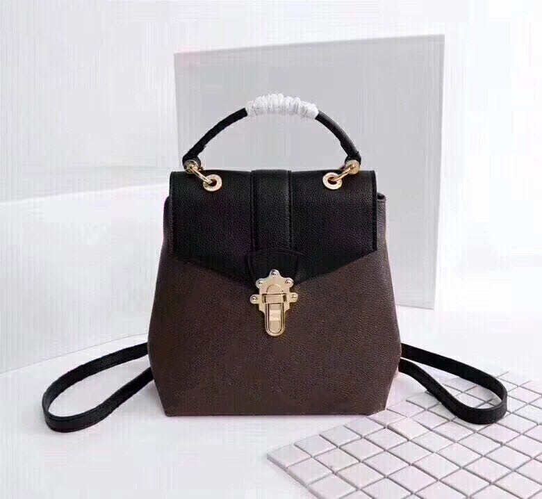 Wholesale Classic leather Backpack for women Old-fashioned Back pack lady Backpack Lock and Button Shoulder Bag lady backpack Shoulder bag