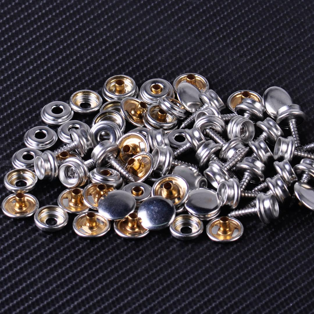100 Bulk Pcs Boat Marine Canvas Cover Stainless Screw Stud Fastener Snap Snaps