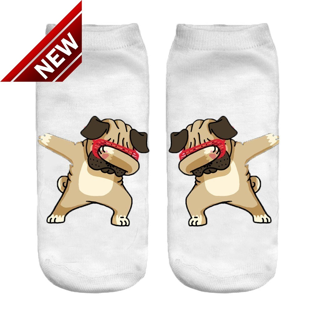 Pug Pet Dog Heart Unisex Funny Casual Crew Socks Athletic Socks For Boys Girls Kids Teenagers