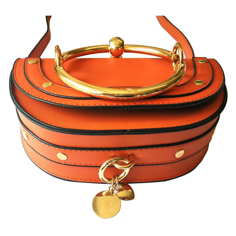 Luxury Handbags Women Bags Designer Half Moon Crossbody Bag For Lady Mini Pu Leather Shiny Metal Handle Loop Flip Cover Y19062003