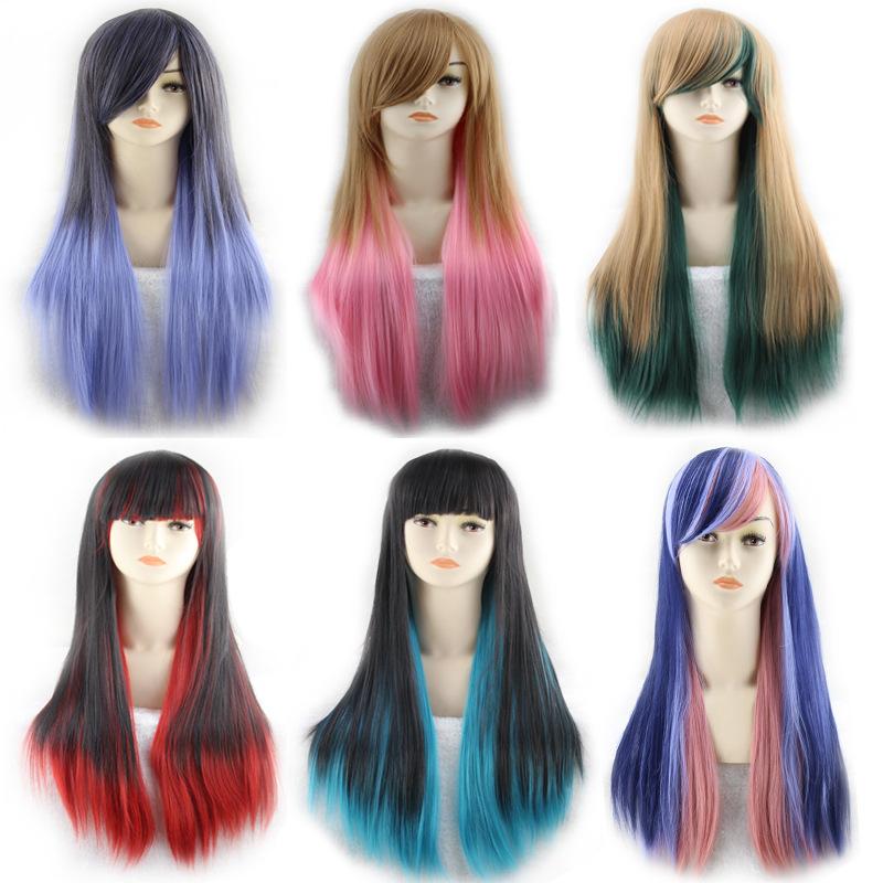 Multi-Color Straight Hair