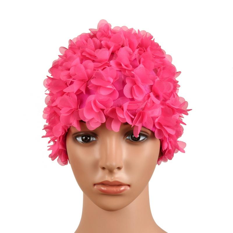 Урожай Цветочные дамы женщина Swim Cap Лепесток ретро бассейн Hat цветок шапочку Привлекательный Hat горячей продажи