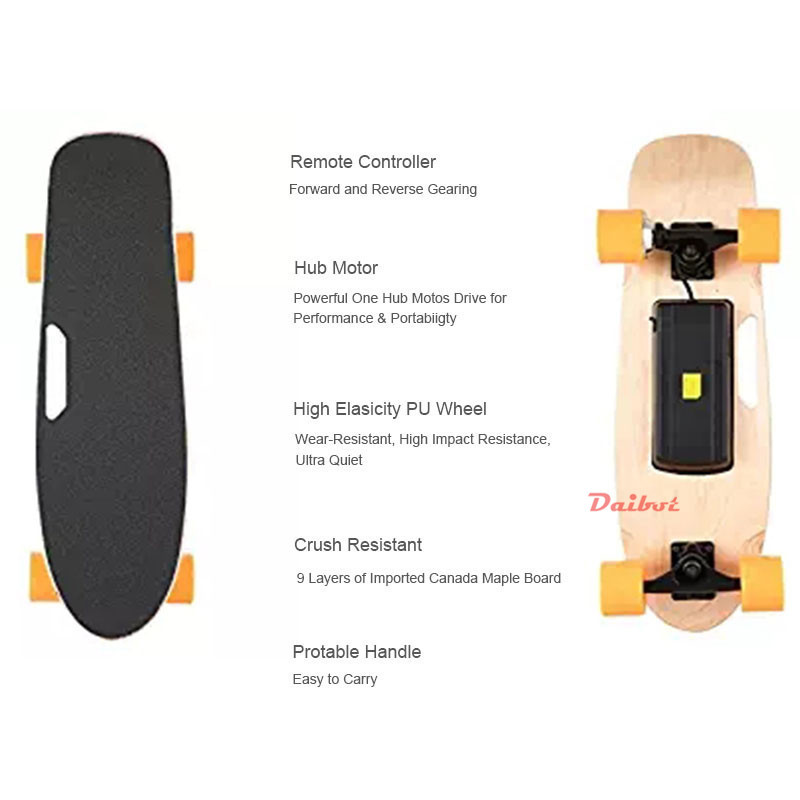 Daibot Child Electric Scooter Four Wheel Electric Scooters 120W Single Motor Portable Wireless Remote Mini Electric Skateboard (9)