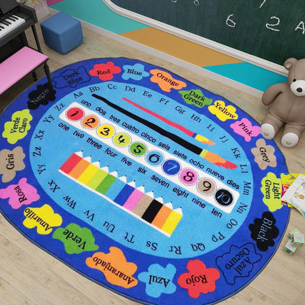 kids learning rug