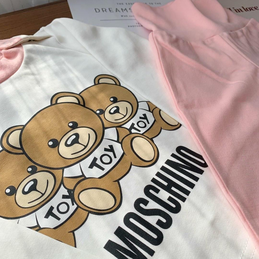 Pagliaccetto infantile lunghi delle tute del manicotto del neonato vestiti appena nati bambini orso tutine 0919