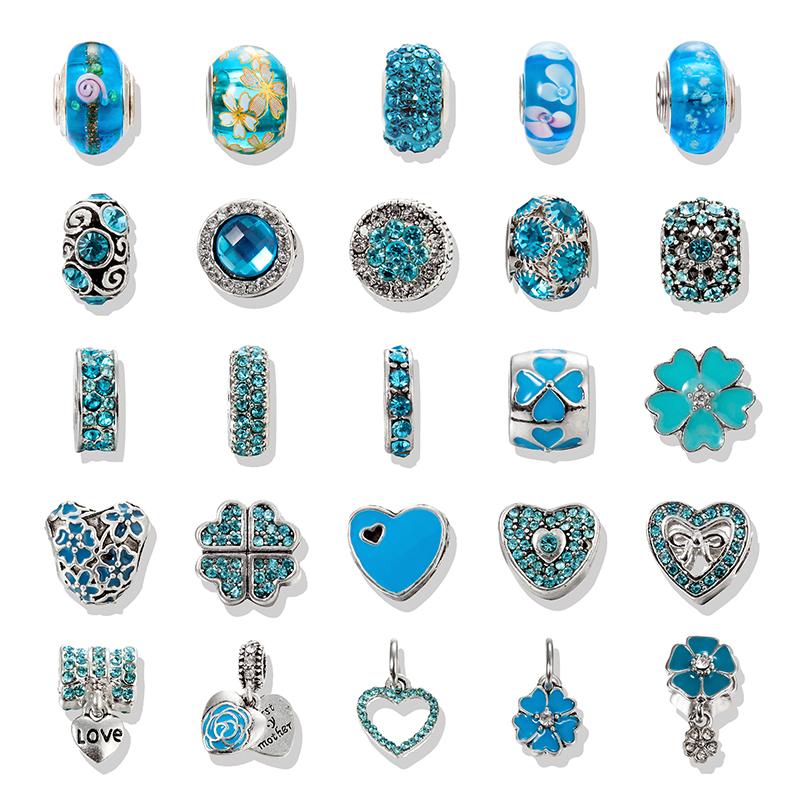 pandora charm bleu turquoise