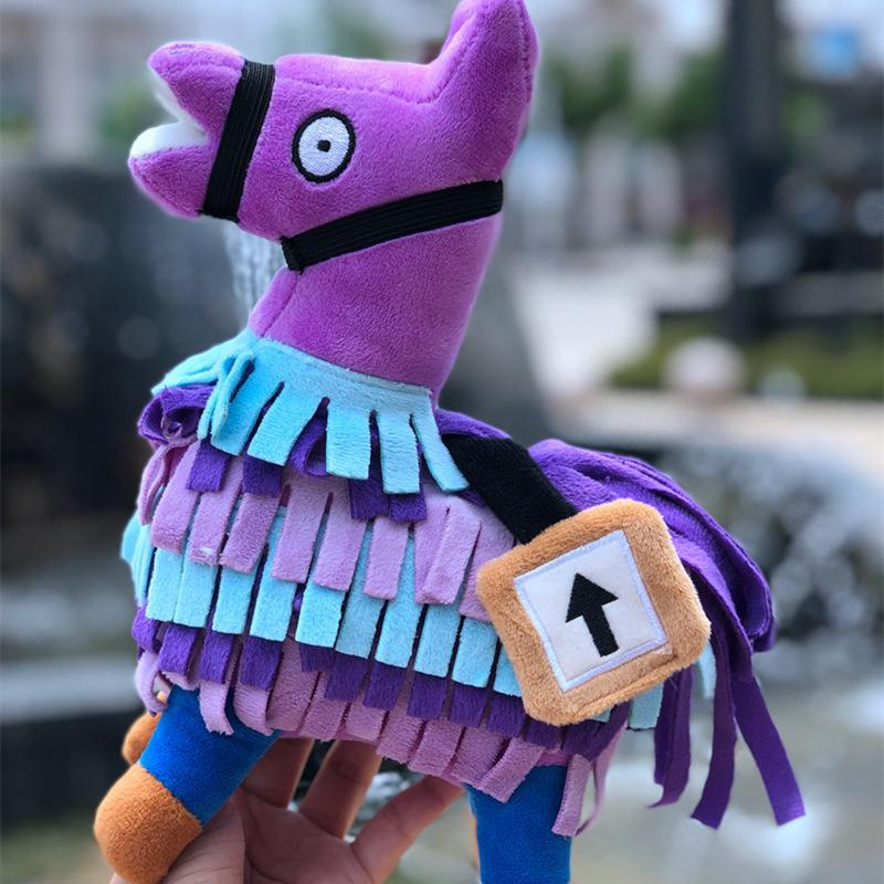 Fortnight Hot Game Battle Royal Plush Toy Stash Llama Soft Alpaca Rainbow Horse