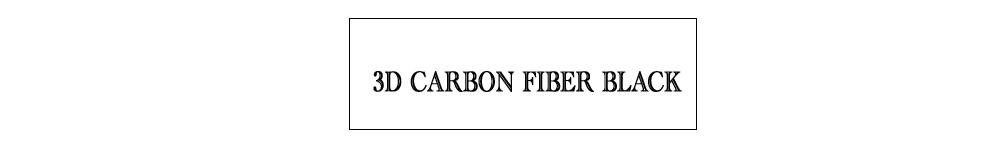 3D carbon fiber black