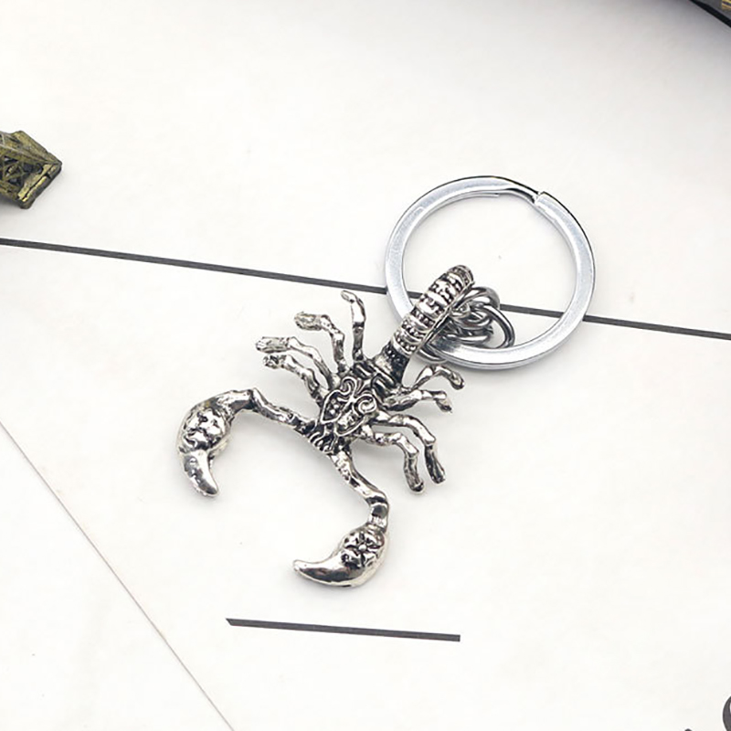 Chic Animal Scorpion Keychain Stainless Steel Keyring Punk Metal Insect Gift N7
