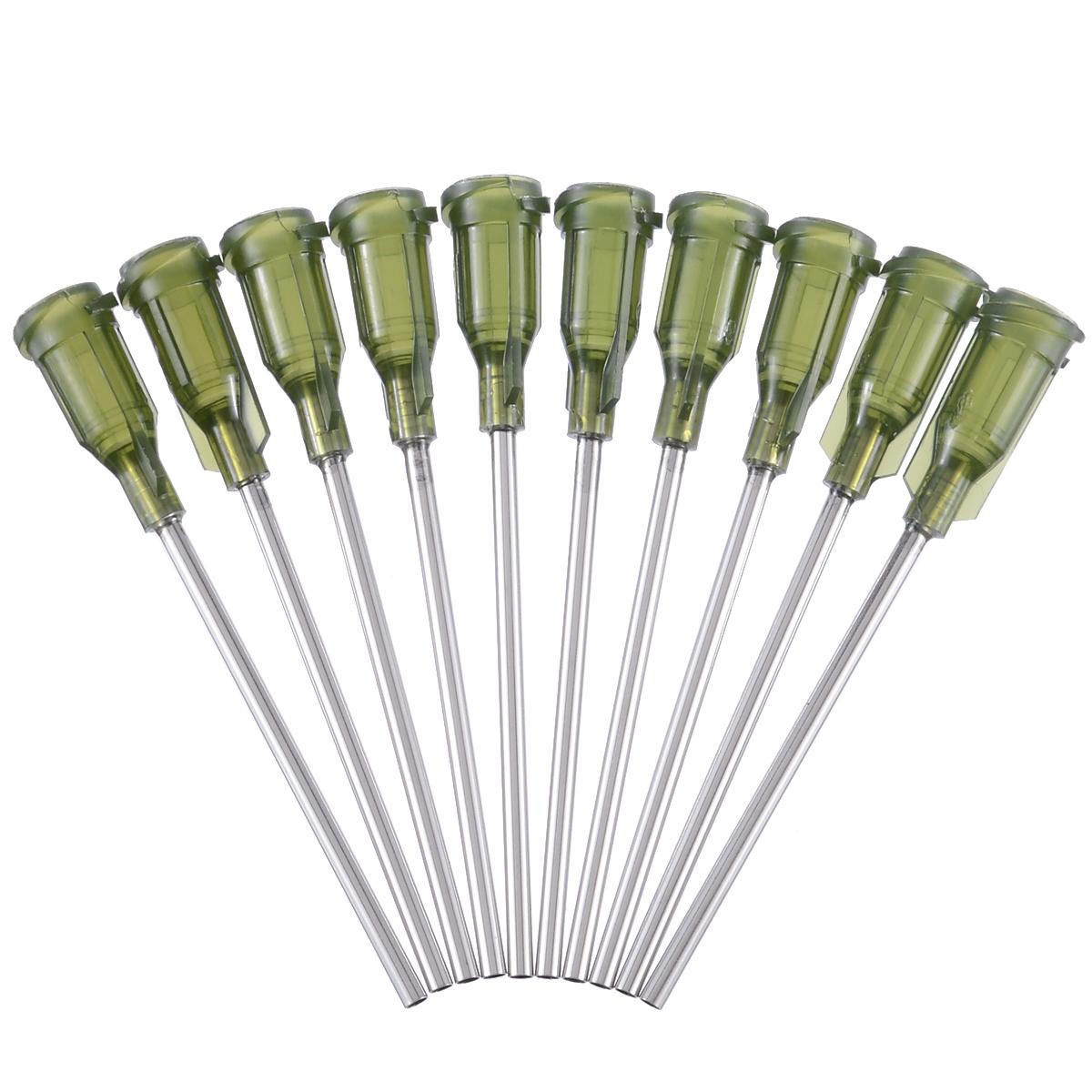 10pcs Syringe Needle Blunt Tip Dispensing Stainless Steel Needles with Luer Lock 14 Ga 1.5inch for Liquid Dispenser Syringe