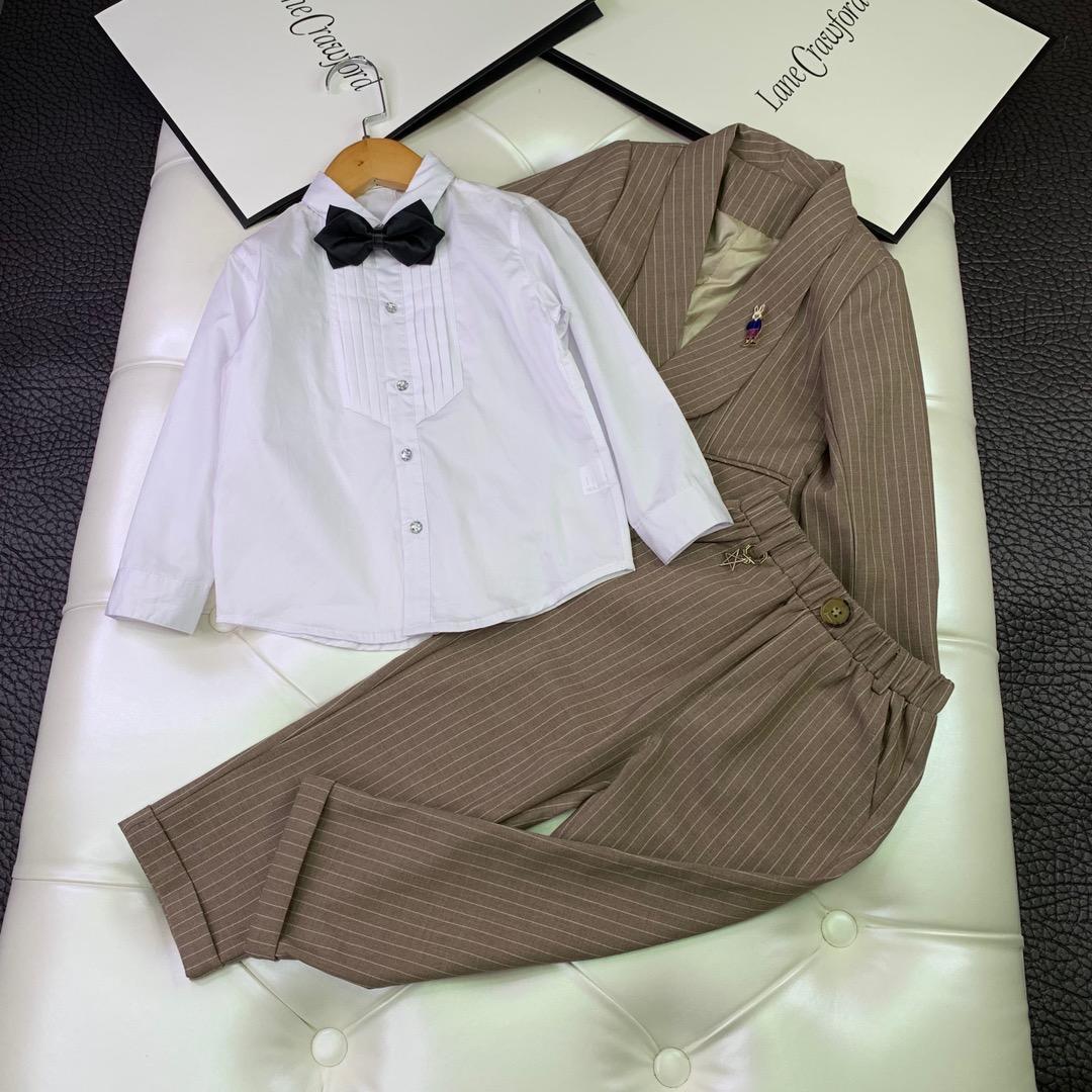 enfants vêtements quatre pièces ensemble smoking enfants blazers cravate pantalons chemises enfants costume de mariage formel bébé garçons blazers costumes casual garçon costumes