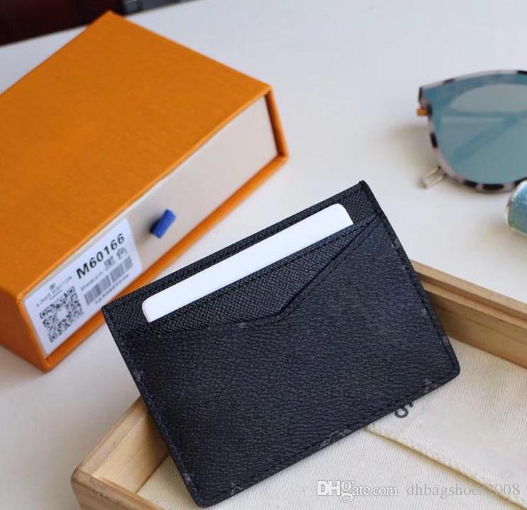 Marca de calidad superior impresa flor diseñador mujeres titulares de tarjetas de cuero real billetera cuadrada de cuero de lujo titular de la tarjeta monedero hombres con caja