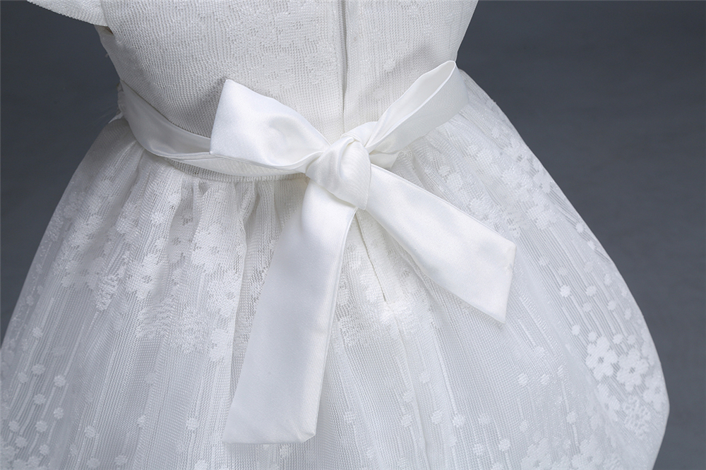 Yeedison Baby Girl Dress 2018 Spring Summer White Flower Princess Party Dresses 1 Year Birthday Dress Newborn Christening Gowns (9)