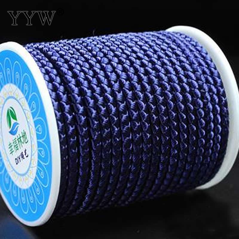wholesale 12m/Spool Jewelry Making Accessories 3mm Cotton Cord Nylon Cord Thread String Diy Tassels Beading European Braided Bracelet