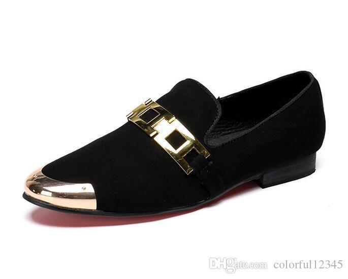 Sexy2019 Mens Pop Velvet Paillettes Pointu Slip On Flat Driving Mocassins Conduite Rouge Noir Chaussures Mocassins