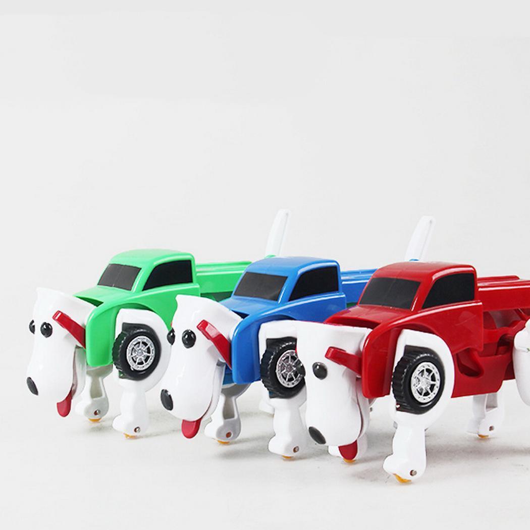 Moda Yeni Çocuklar Dönüşümü Köpek Araç Araba Clockwork Otomatik Oyuncak Gelişim Oyuncak Yeni Moda Çocuk Dönüşümü Köpek Araba Oyuncak