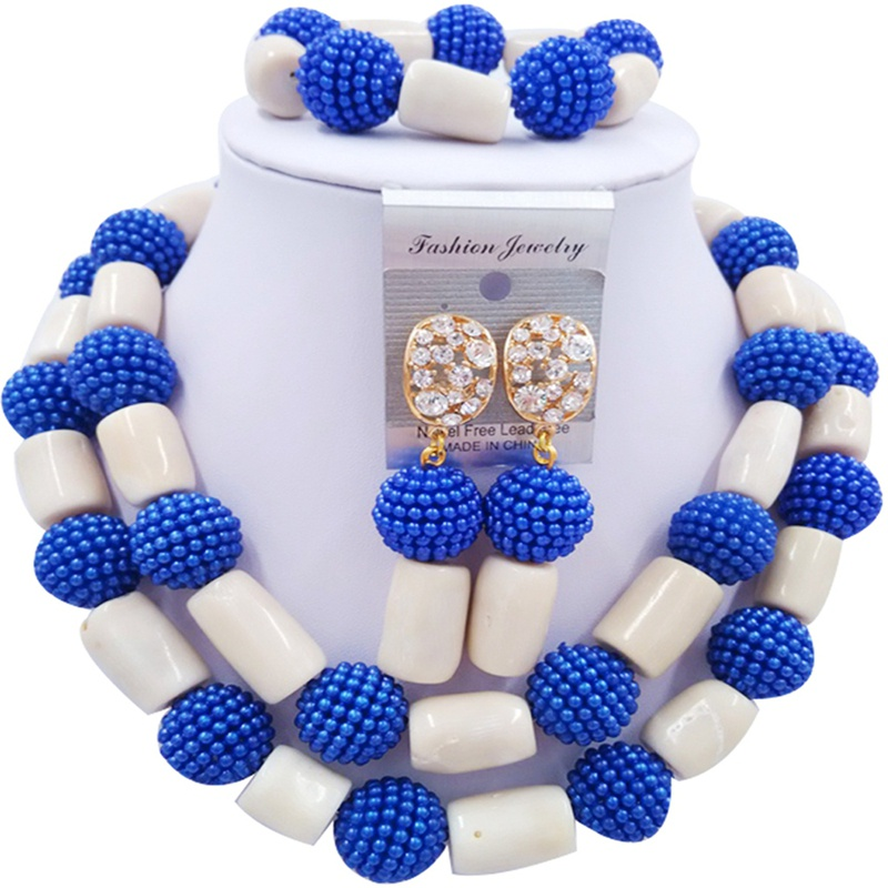 Jewelry Sets Blue and Beige