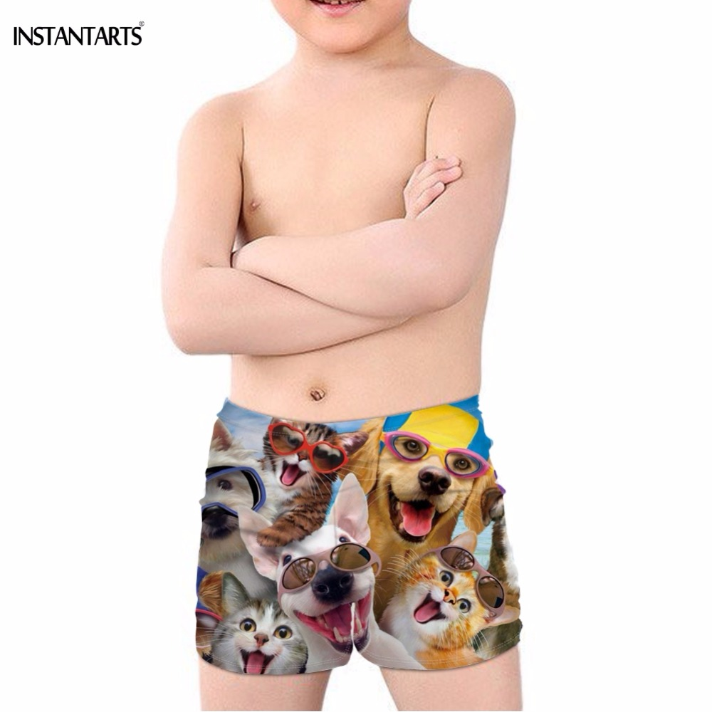 Mens Casual Quick Dry Swim Trunks Cute Pug Float Drawstring Printed Board Shorts