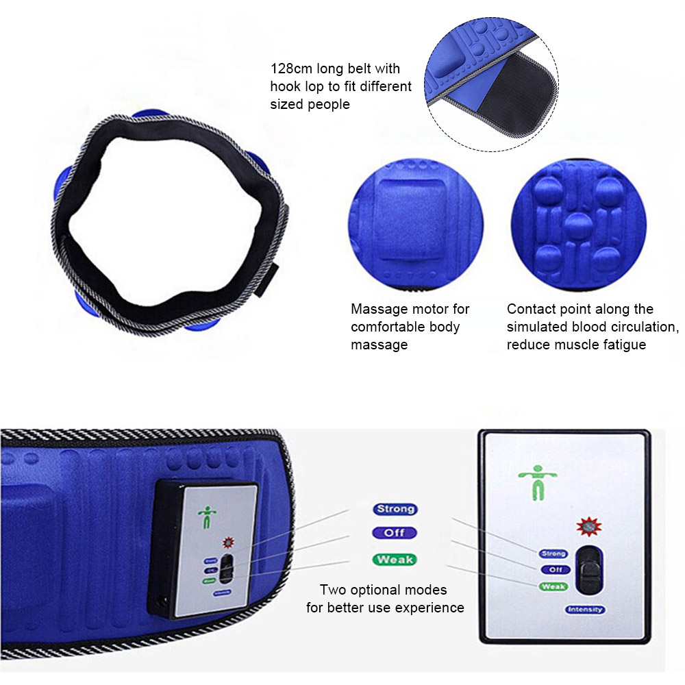 Electric Body Slimming Massager Belt weight loss Heat Function Vibra Vibration Rejection Fat Massage Slimming Machine health