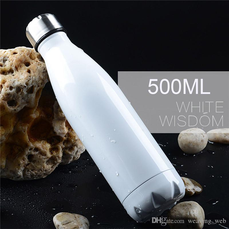 Wholesale cola shaped bottle cola water bottle Summer Promotion 17oz/500ml Cola Shaped Water Bottle 304 Stainless Steel