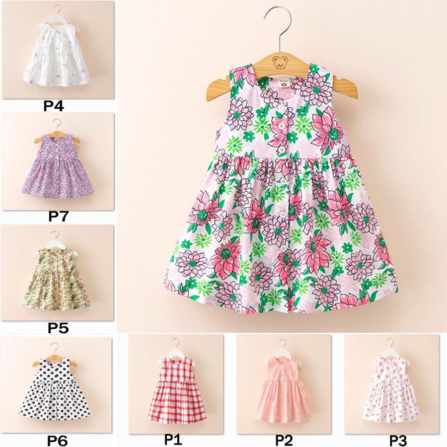 Baby Girls Kid Dinosaur Stripe Cartoon Print Lace Dress Outfits Clothes P6