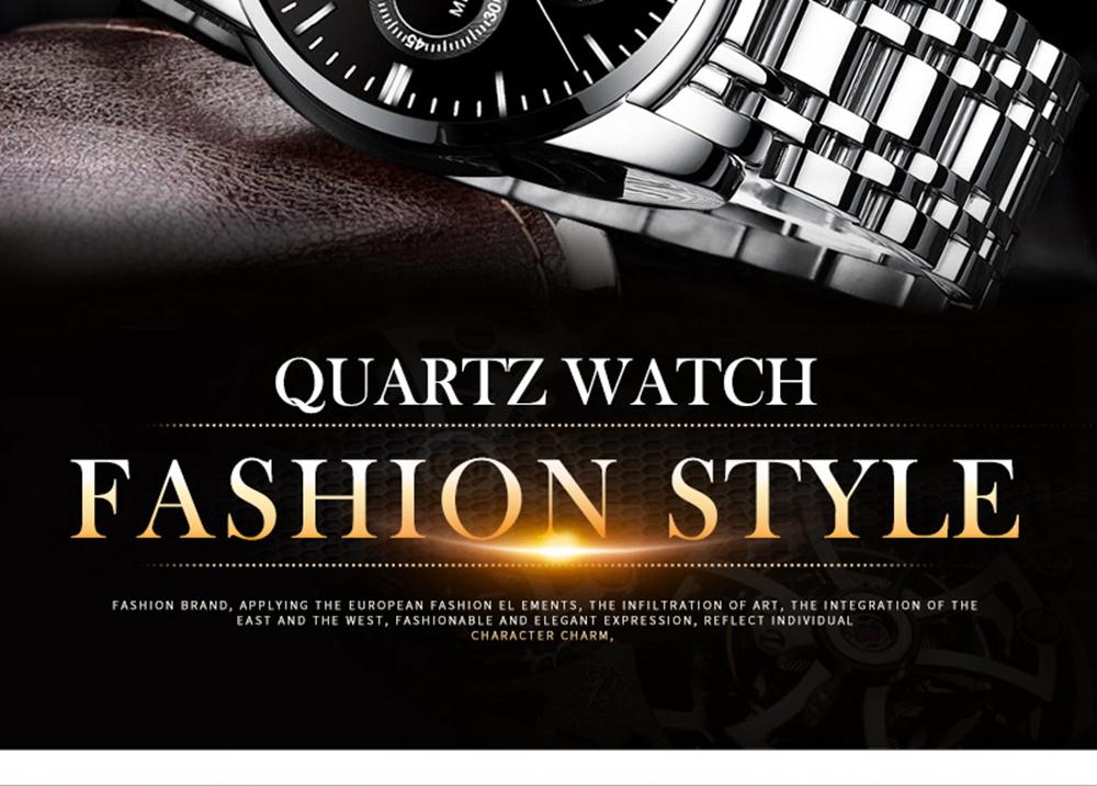 NIBOSI Mens Watches Top Brand Luxury Premium Luxury Fashion Luminous Waterproof Watch High-end Calfskin Pure Steel Strap Blue (15)