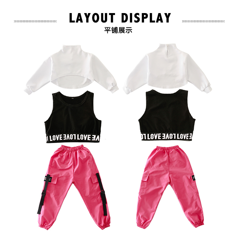 Girls boutique outfits 4 6 8 10 123 14 16 18 Years hip hop hoodies sweatshirts kids costumes girls kids summer clothes (14)
