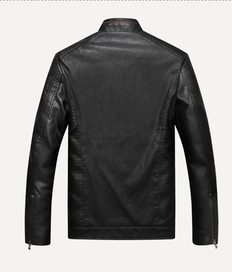 2019 Autumn Fashion Mens Biker Pu Leather Jacket Motorcycle Men Casual Coat Thick Slim Fit Male Stand Collar Jacket Coat