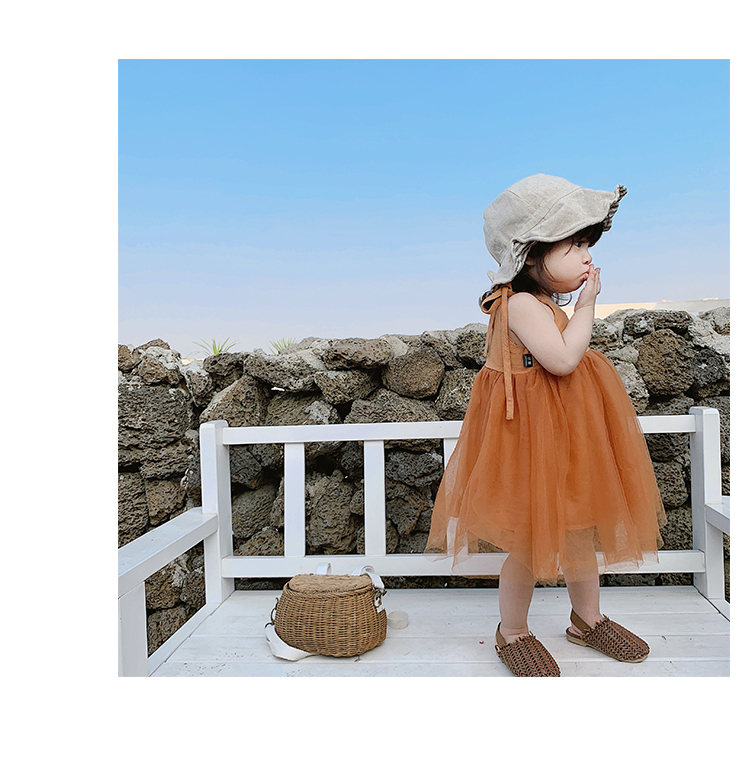 Girls Spring 2019 Little Fairy Dresses Baby Pure Colored Cotton Sleeveless With Bowtie Lace Princess Dress Little Children Tutu J190618