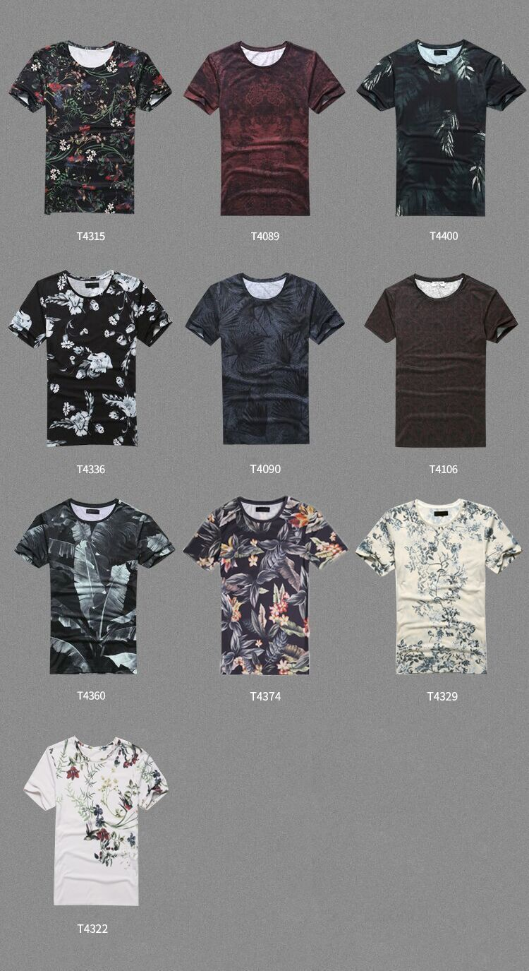 New Spring Men's Digital Printing Short Sleeved T-shirt Cotton Casual Tops Tees Fitness Mens T-shirt Brand Clothing T4315 J190430
