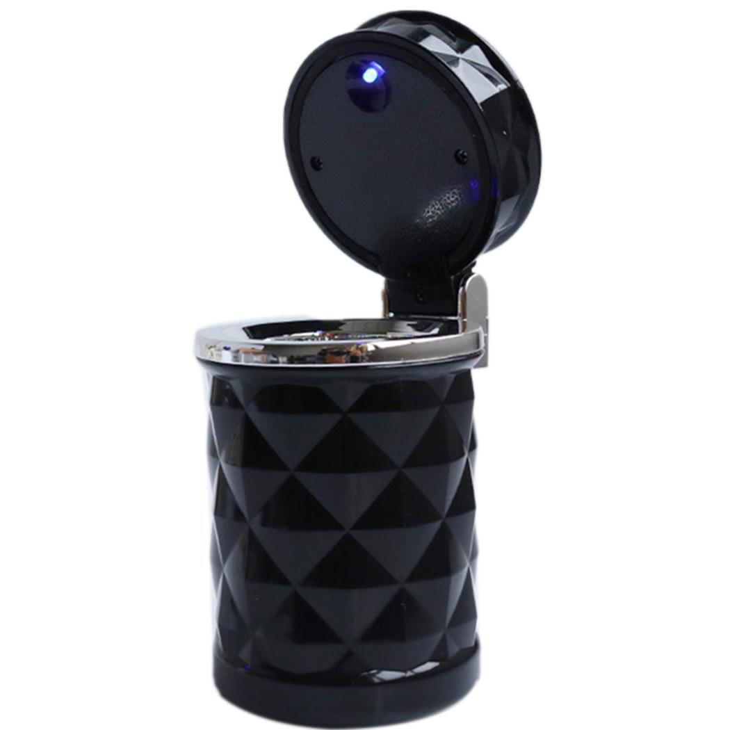 Fashion New Car Travel LED Light Cigarette Cylinder Smokeless Ashtray Fashion New Car Smokeless Ashtray