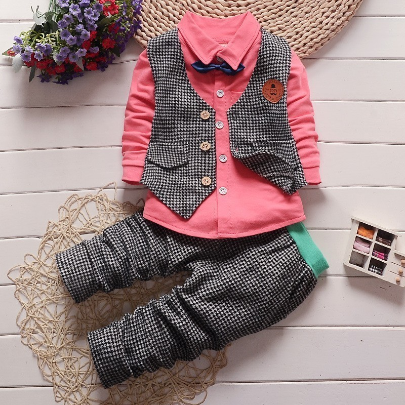 Spring-autumn-summer-Children-baby-boys-girls-family-Clothing-Set-tracksuit-3-piece-suit-sets-baby
