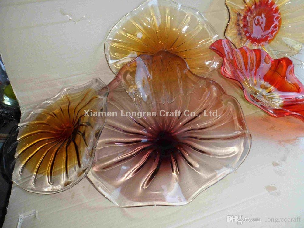 sea urchin decor.htm 2020 urban design clear glass art hand blown glass plates wall  art hand blown glass plates wall