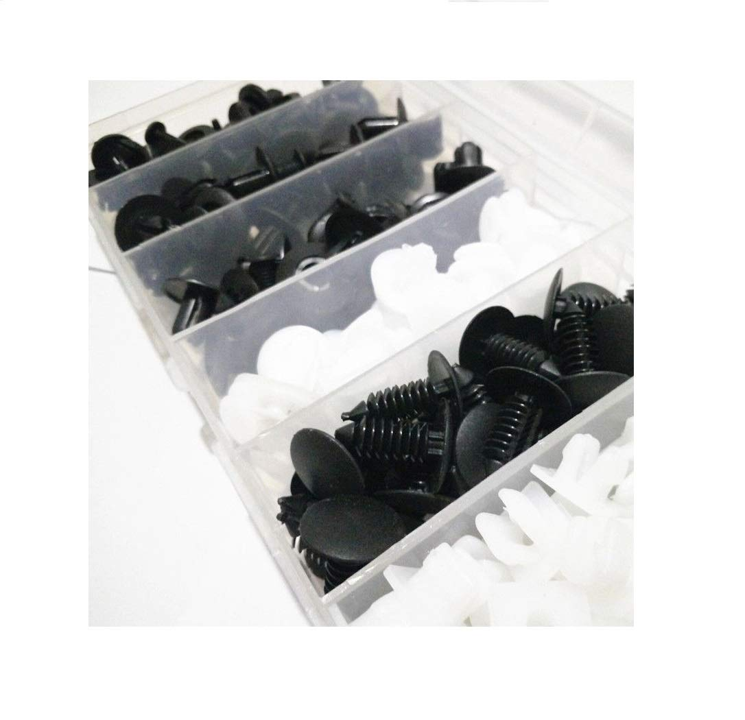 100 piezas rejilla negra sujetador remache alfiler pinzas retenedor para jeep wrangler jk 07-17