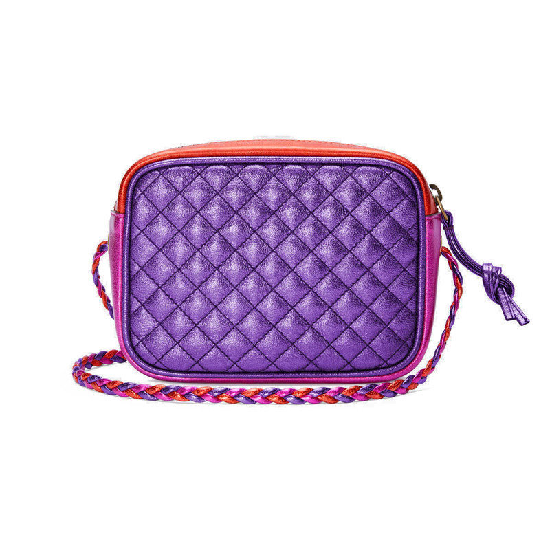 [Package tax] GUCCI / Gucci new ladies mini purple red color shoulder camera bag