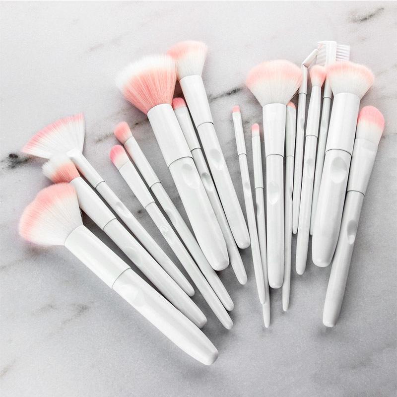 17pcs white makeup brushes (9)