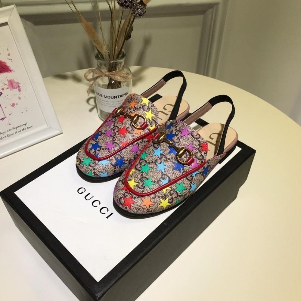 High-End-Blumenmädchen Schuhe Heels Early Spring Series Kinder Leder Leere Prinzessin hochwertige Rainbow Star