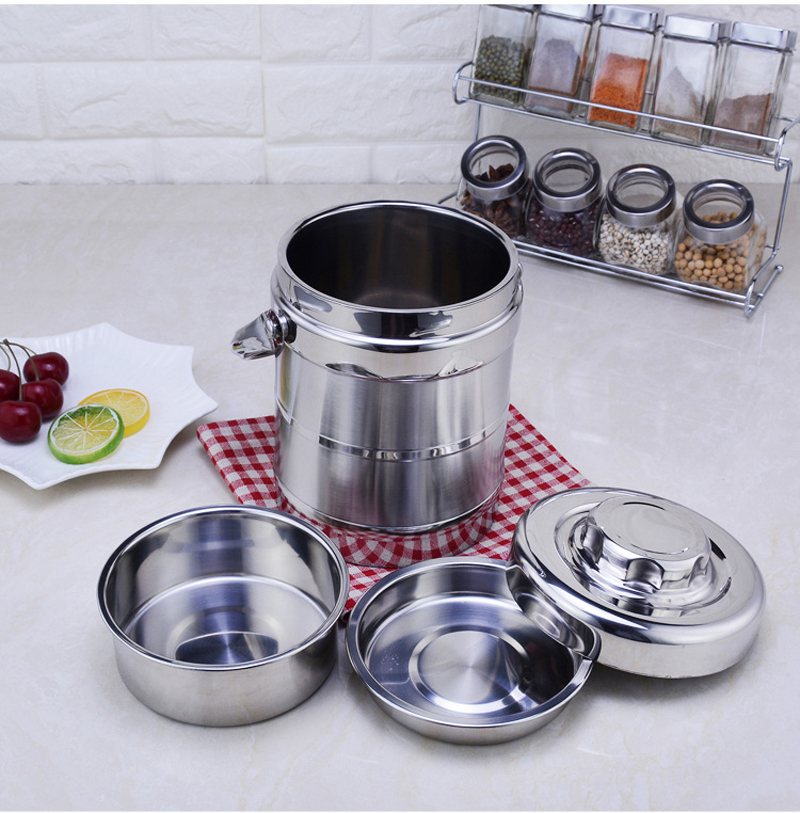 Stainless Steel Lunch Box Thermos Lunchbox School Student Bento Boxs Kids Adult Kitchen Bbq Tools Food Container Portable 7
