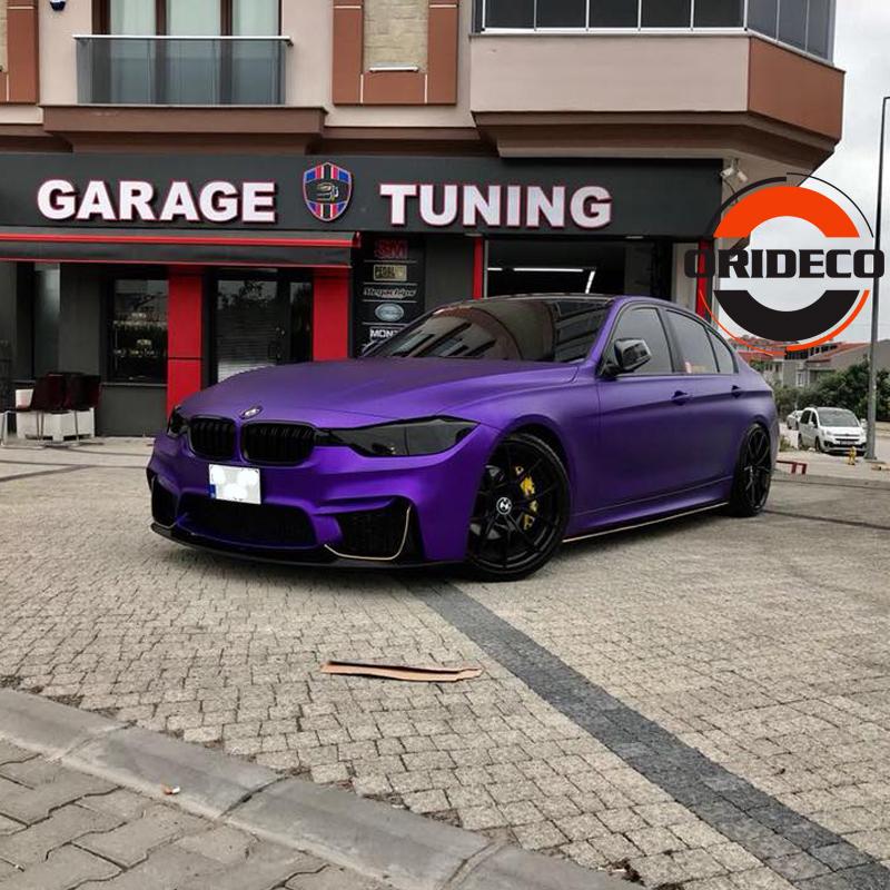 Purple matte metallic satin purple vinyl wraps 3