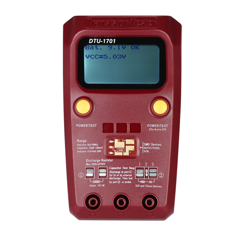 Medidor De Capacitancia Lcd Digital Probador De Tabla De Inductancia Medidor 2E