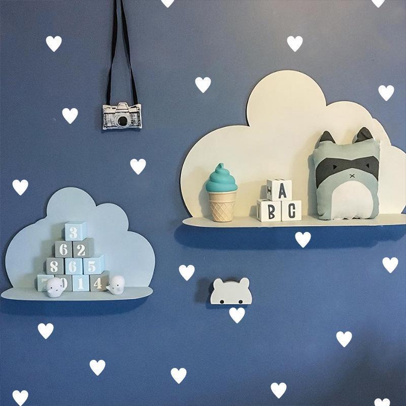 noir Mamum Bricolage grands nuages Ballon Stickers muraux enfants chambre d/écoration Art