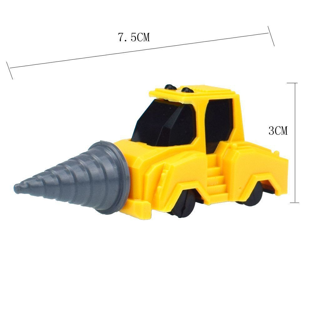 Novelty Mini Bulldozer Excavator Cement Tank Truck Combination Five in One Robot Model Toy