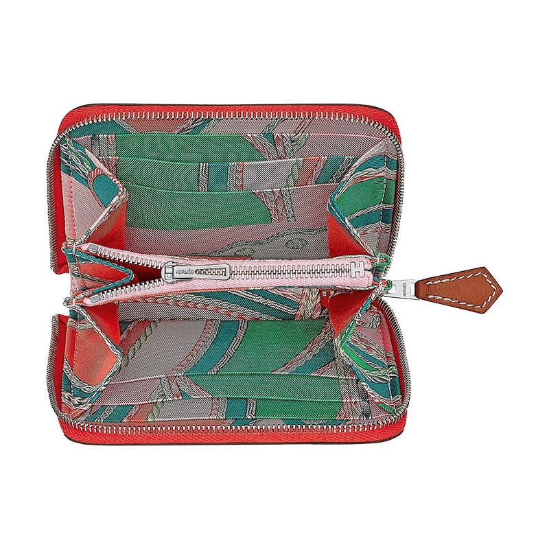 /Merman's Silk'in Personality Short Wallet Orange Red/Light Yellow Brown/Pink/Jaipur Powder H075189CKAA-BA11