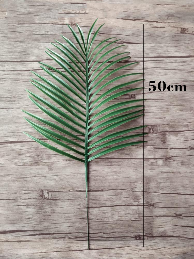 Пластиковые искусственные листья пальмы ветви зеленые растения поддельные тропические листья Главная свадебные украшения цветочная композиция C18112601